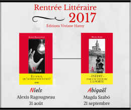 Rentrée littéraire 2017